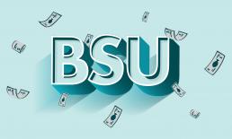BSU med store bokstaver. Illustrasjon.